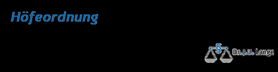 Höfeordnung